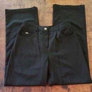 St John sport black embellished wide leg pants 4